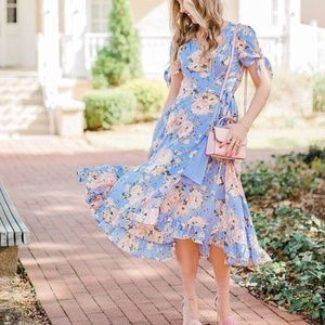 Francesca's Miami Victoria Floral Wrap Dress Med